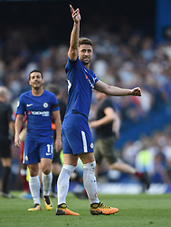 Chelsea's Gary Cahill celebrates at full time