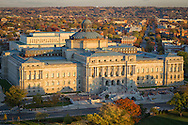 USA, Washington, DC. The Jefferson Building of the Library of Congress as seen from the top of the U.S. Capitol Building.