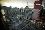 view towards Ikebukuro station Tokyo Japan