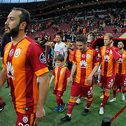 Galatasaray's Multiple Players during their Turkish Super League soccer match Galatasaray between TorkuKonyaspor at the AliSamiYen Spor Kompleksi TT Arena at Seyrantepe in Istanbul Turkey on Friday, 08 May 2015. Photo by Kurtulus YILMAZ/TURKPIX