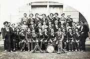 group portrait 1921 local all male fanfare band