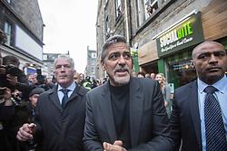 George Clooney at Social Bite Cafe, Rose Street, Edinburgh