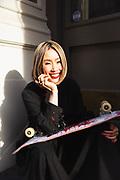Louis Vuitton artist Chiharu Sei photographed for GQ.com in 2020.