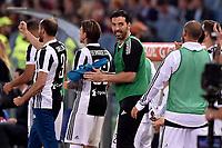 Festeggiamenti  Juventus, Gianluigi Buffon<br /> Roma 13-05-2018 Stadio Olimpico<br /> Campionato Serie A, <br /> AS Roma - Juventus<br /> Foto Antonietta Baldassarre / Insidefoto