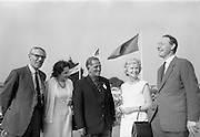 Mr. E.J. Power, General Manager, Irish Dunlop Co.; Mrs J.R. Sheridan; Dr. R.F. O'Driscoll, Captain of Tramore Golf Club; Mrs E.J. Power and Mr. J.R. Sheridan, Marketing Director, Irish Dunlop Co. at the Irish Dunlop £1,000 Tournament at Tramore Golf Club, Co. Waterford on the 19th August 1967.