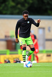 Shaun McCloskey of Forest Green Rovers  warms up- Mandatory by-line: Nizaam Jones/JMP - 05/09/2020 - FOOTBALL - New Lawn Stadium - Nailsworth, England - Forest Green Rovers v Leyton Orient - Carabao Cup