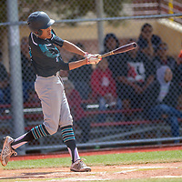Navajo Prep Eagle Marley Deschiney (1) connects on a Tohatchi Cougar pitch at the Gallup Sports Complex in Gallup Saturday.