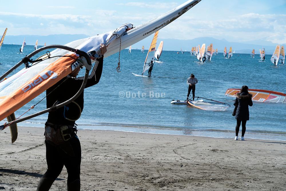 windsurfing in Kamakura Japan