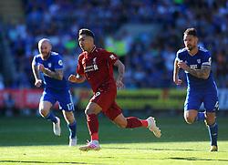 Roberto Firmino of Liverpool in action- Mandatory by-line: Nizaam Jones/JMP - 21/04/2019 -  FOOTBALL - Cardiff City Stadium - Cardiff, Wales -  Cardiff City v Liverpool - Premier League