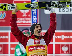 06.01.2013, Paul Ausserleitner Schanze, Bischofshofen, AUT, FIS Ski Sprung Weltcup, 61. Vierschanzentournee, Gesamt Podium, im Bild Gesamtsieger Gregor Schlierenzauer (AUT) jubelt // Overall Winner Gregor Schlierenzauer of Austria celebrates during Overall Podium of 61th Four Hills Tournament of FIS Ski Jumping World Cup at the Paul Ausserleitner Schanze, Bischofshofen, Austria on 2013/01/06. EXPA Pictures © 2012, PhotoCredit: EXPA/ Juergen Feichter