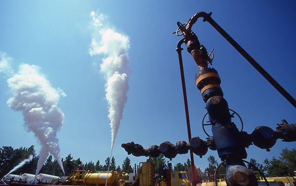 Stock photo of a CO2 fracking operation in East Texas