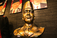 A bust of the first Indonesian President Sukarno for sale inside a mall.<br /> Jakarta.<br /> The city of Jakarta is the capital city of Indonesia and has about 10 million residents.