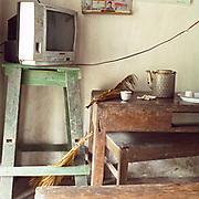 Interior of a home in Tu Dai village, Ha Nam province, Vietnam.