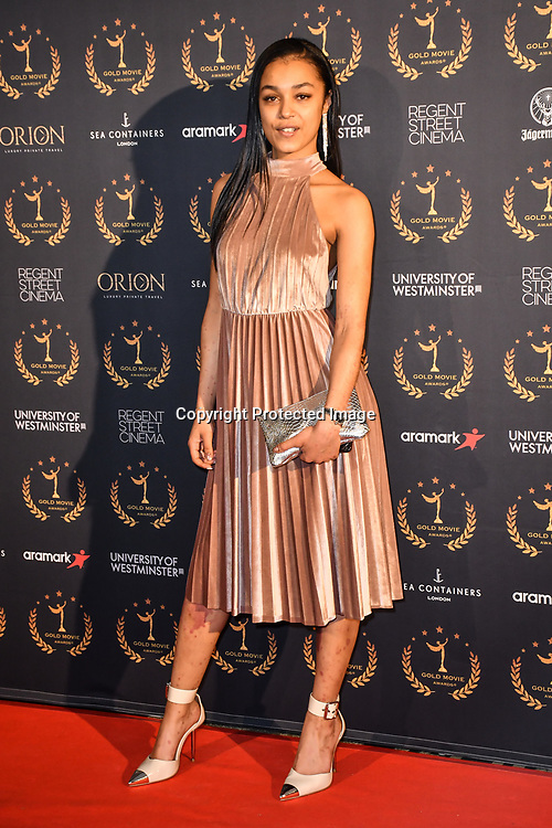 Jasmine Jobson of Top Boy arrivers at Gold Movie Awards at Regents Street Theatre, on 9th January 2020, London, UK.