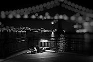 Classic ballerina with Manhattan skyline on the background. Dancer: Marcela Botelho.
