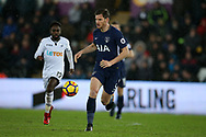 Jan Vertonghen of Tottenham Hotspur in action. Premier league match, Swansea city v Tottenham Hotspur at the Liberty Stadium in Swansea, South Wales on Tuesday 2nd January 2018. <br /> pic by  Andrew Orchard, Andrew Orchard sports photography.