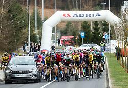 Peloton at start in Straska vas, Novo mesto during cycling race 6th Grand Prix Adria Mobil 2021, on March 28, 2021, in Novo mesto, Slovenia. Photo by Vid Ponikvar / Sportida