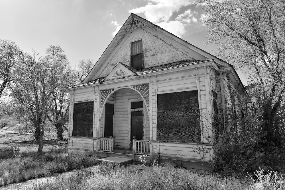 Old house in the historic mining town of Eureka, Utah.