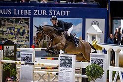 RIESKAMP-GOEDEKING Tim (GER), Querido<br /> Grand Prix von Volkswagen<br /> Int. jumping competition over two rounds (1.55 m) - CSI3*<br /> Comp. counts for the LONGINES Rankings<br /> Braunschweig - Classico 2020<br /> 08. März 2020<br /> © www.sportfotos-lafrentz.de/Stefan Lafrentz