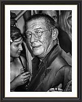John Hurt evening at Maison Bertaux  Soho London<br /> Museum-quality Archival signed Framed Print