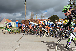 Attempts to stick the race in the gutter begin early - Women's Gent Wevelgem 2016, a 115km UCI Women's WorldTour road race from Ieper to Wevelgem, on March 27th, 2016 in Flanders, Netherlands.