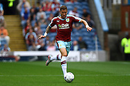 Michael Kightly of Burnley in action. Skybet football league championship match, Burnley  v Brentford at Turf Moor in Burnley, Lancs on Saturday 22nd August 2015.<br /> pic by Chris Stading, Andrew Orchard sports photography.