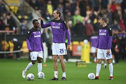 Stoke City's Saido Berahino, Peter Crouch and Darren Fletcher