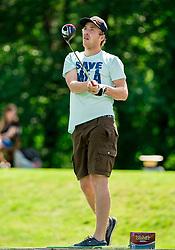 Sondre Dragen of Norway during Slovenia Long Drivers European Tour  Championship on July 5, 2014 in  Golf Arboretum Ljubljana, Volcji Potok, Slovenia. Photo By Vid Ponikvar / Sportida