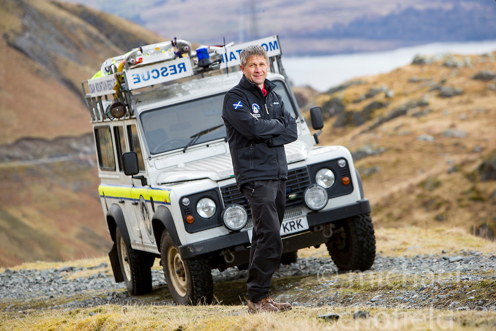 Damon Powell, Chair of Scottish Mountain Rescue. Pics at the Cruachan Dam and Reservoir, in Argyll and Bute, Scotland.