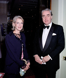 MR & MRS RUPERT HAMBRO members of the banking family,  at a dinner in London on February 20th 1997. LWO 14