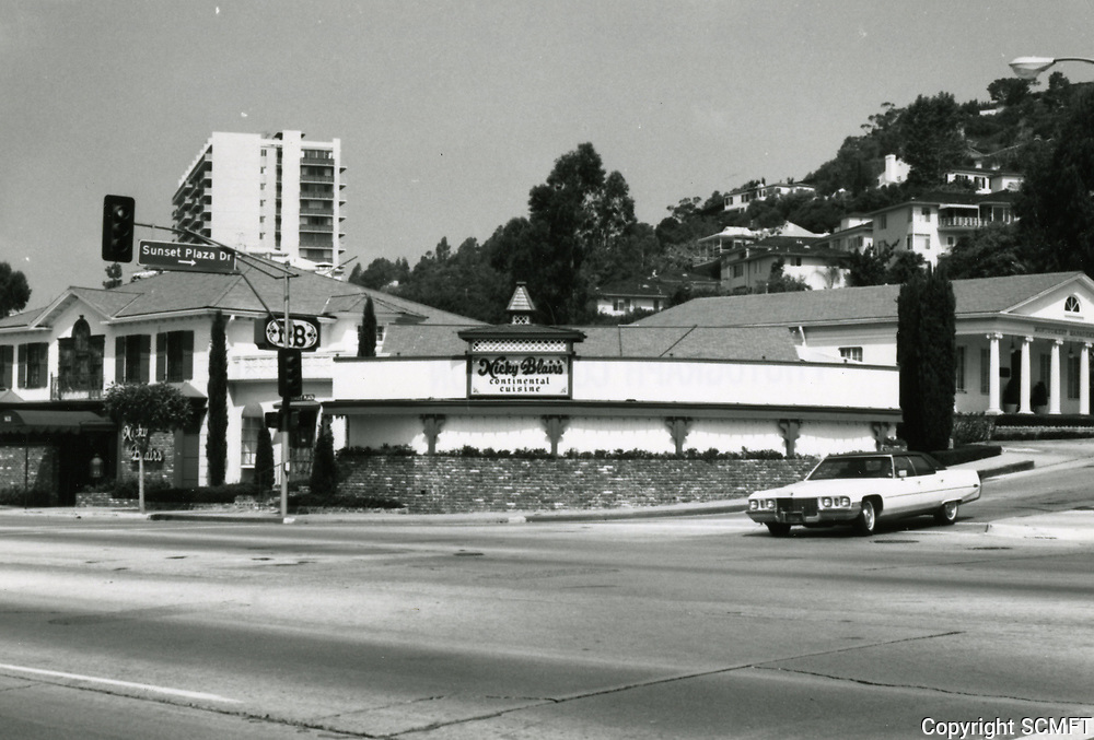 1973 Nicky Blair's Restaurant at Sunset Blvd. & Sunset Plaza Dr.