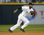 CHICAGO - APRIL 18:  Jimmy Rollins #7 of the Chicago White Sox fields against the Los Angeles Angels of Anaheim on April 18, 2016 at U.S. Cellular Field in Chicago, Illinois.  The Angels defeated the White Sox 7-0.  (Photo by Ron Vesely)    Subject:  Jimmy Rollins