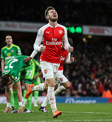 Goal, Aaron Ramsey of Arsenal scores, Arsenal 3-1 Sunderland - Mandatory byline: Jason Brown/JMP - 07966386802 - 05/12/2015 - FOOTBALL - Emirates Stadium - London, England - Arsenal v Sunderland - Barclays Premier League