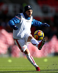 Stoke City's Kostas Stafylidis during the pre-match warm up