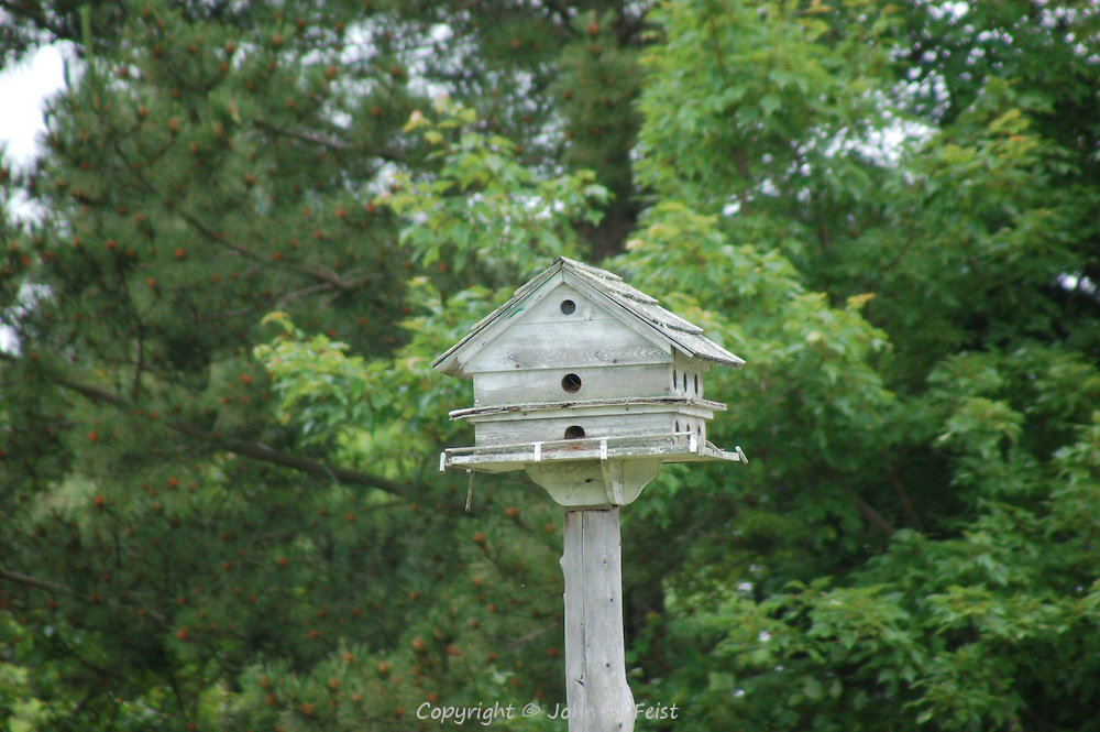This elaborate bird house / feeder must make many, many birds happy.  Stone Creek, CT