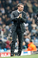 Celtic Manager Brendan Rogers during the Champions League match between Manchester City and Celtic at the Etihad Stadium, Manchester, England on 6 December 2016. Photo by Craig Galloway.