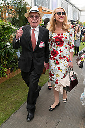 © Licensed to London News Pictures. 23/05/2016. RUPERT MURDOCH and JERRY HALL attend press day of The Royal Horticultural Society flagship flower show. The show has been held at the Royal Hospital in Chelsea since 1913. London, UK. Photo credit: Ray Tang/LNP