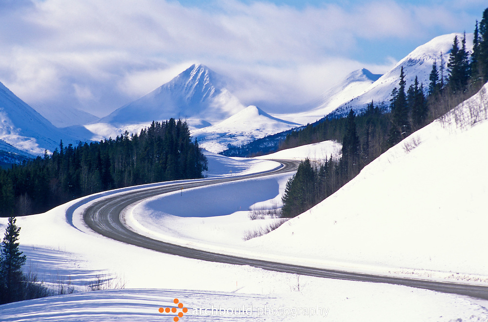 Alaska Highway winds northward.