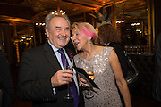 PETER MCKAY; DOTTI IRVING, The launch of the 1939 Register, hosted by The National Archives and Findmypast to celebrate one of the most important documents in modern British history. POMPADOUR BALLROOM, HOTEL CAFÉ ROYAL<br /> 68 Regent Street, London. 3 November 2015
