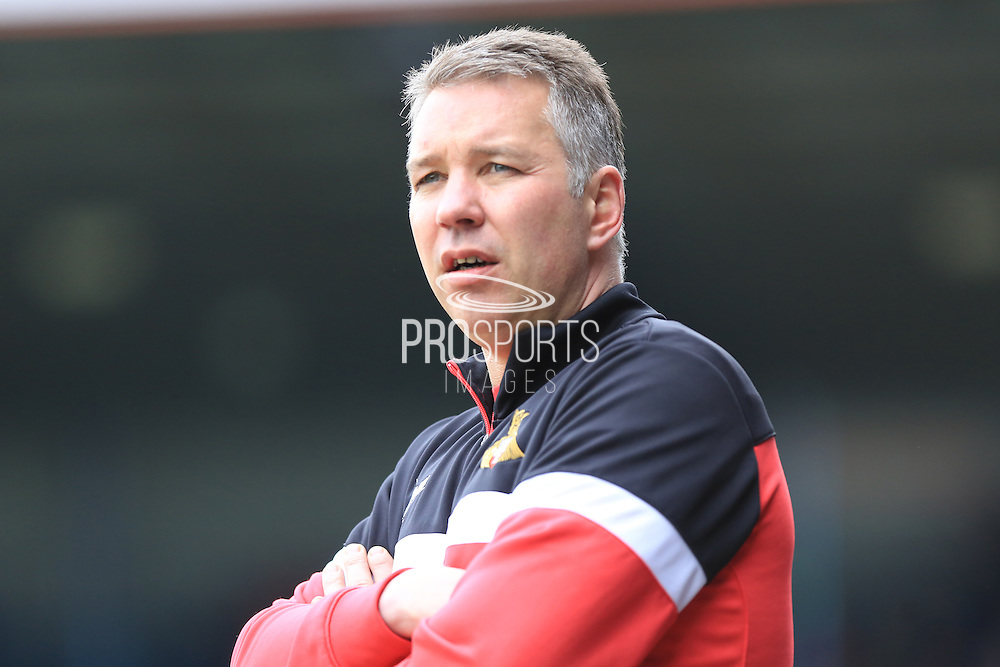 Darren Ferguson during the Sky Bet League 1 match between Rochdale and Doncaster Rovers at Spotland, Rochdale, England on 2 April 2016. Photo by Daniel Youngs.