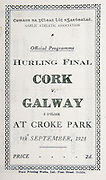 All Ireland Senior Hurling Championship Final,.09.09.1928, 09.09.1928, 9th September 1928,.9091928AISHCF,.Cork 6-12, Galway 1-0,.Senior Cork v Galway,.Croke Park, ..