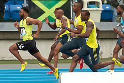 adidas Grand Prix Diamond League professional track & field meet: mens 100 meters, Tyson Gay, USA