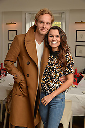 JACK FOX and SAMANTHA BARKS at a lunch to promote the jewellery created by Luis Miguel Howard held at Morton's, Berkeley Square, London on 20th October 2016.