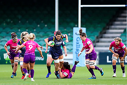 Sioned Harries of Worcester Warriors Women tries to find a way through the visitor's defence - Mandatory by-line: Nick Browning/JMP - 14/11/2020 - RUGBY - Sixways Stadium - Worcester, England - Worcester Warriors Women v Loughborough Lightning - Allianz Premier 15s