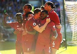 Georginio Wijnaldum of Liverpool celebrates his goal after making it 0-1- Mandatory by-line: Nizaam Jones/JMP - 21/04/2019 -  FOOTBALL - Cardiff City Stadium - Cardiff, Wales -  Cardiff City v Liverpool - Premier League