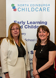 Pictured: Theresa Allison, General manager  North Edinburgh Childcare and Training centre welcome Ms Todd.<br /> <br /> The Minister for Childcare and Early Years, Maree Todd visited North Edinburgh Childcare and Training centre today and welcomed the childcare deposit pilot. Ms Todd met staff and children at the centre to discuss the pilot.<br /> <br /> Ger Harley | Edinburgh Elite Media