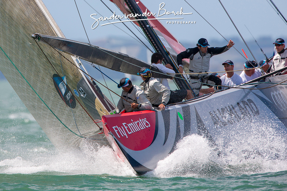 Artemis (SWE) races Mascalzone Latine (ITA), race day 5, Round Robin 1. Auckland, New Zealand, March 14th 2010. Louis Vuitton Trophy  Auckland (8-21 March 2010) © Sander van der Borch / Artemis