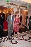 GERALD SCARFE; JANE ASHER, The Sky South Bank Arts Awards, Dorchester Hotel , Park Lane, London. 1 May 2012.