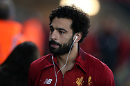 Mohamed Salah of Liverpool arrives ahead of the game. Premier league match, Swansea city v Liverpool at the Liberty Stadium in Swansea, South Wales on Monday 22nd January 2018. <br /> pic by  Andrew Orchard, Andrew Orchard sports photography.