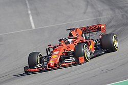 February 18, 2019 - Spain - Sebastian Vettel (Scuderia Ferrari Mission Winnow) seen in action during the winter test days at the Circuit de Catalunya in Montmelo  (Credit Image: © Fernando Pidal/SOPA Images via ZUMA Wire)